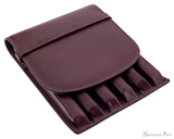 Girologio 6 Pen Case - Brown Leather