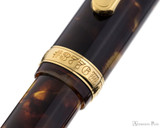 Platinum 3776 Celluloid Fountain Pen - Tortoise - Cap Band