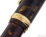 Platinum 3776 Celluloid Fountain Pen - Tortoise - Cap Band 2