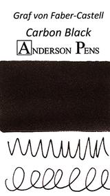 Graf von Faber-Castell Carbon Black Ink Cartridges color swab