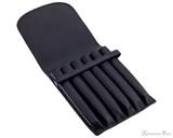 Girologio 6 Pen Case - Black Leather - Open