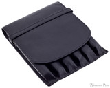 Girologio 6 Pen Case - Black Leather