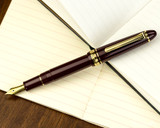 Sailor 1911 Standard Fountain Pen - Maroon with Gold Trim - Posted on Notebook