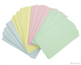 Exacompta Index Cards - 3 x 5, Graph - Assorted Colors 4 colors