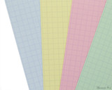Exacompta Index Cards - 3 x 5, Graph - Assorted Colors color closeup