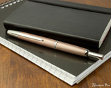 Pilot Vanishing Point Decimo Fountain Pen - Champagne - On Notebook