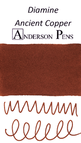 Diamine Ancient Copper Ink Color Swab
