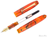 Edison Collier Fountain Pen - Persimmon Swirl - Parted Out