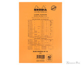 Rhodia No. 16 Staplebound Notepad - A5, Blank - Orange back cover