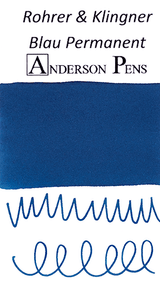 Rohrer & Klingner Blau Permanent Ink Color Swab