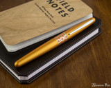 Pilot Metropolitan Fountain Pen - Retro Pop Orange - On Notebook