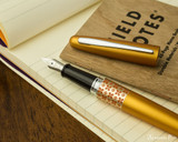 Pilot Metropolitan Fountain Pen - Retro Pop Orange - Open on Notebook