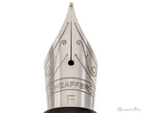 Sheaffer 300 Fountain Pen - Black with Chrome Cap - Nib Closeup
