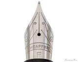 Sheaffer 300 Fountain Pen - Black with Chrome Cap - Nib Closeup