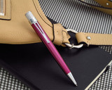 Retro 51 Tornado Classic Lacquer Rollerball - Pink - On Notebook