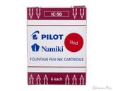 Pilot Namiki Red Ink Cartridges (6 Pack)