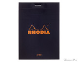 Rhodia No. 12 Staplebound Notepad - 3.375 x 4.75, Lined - Black