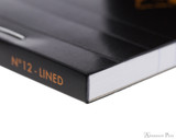 Rhodia No. 12 Staplebound Notepad - 3.375 x 4.75, Lined - Black binding detail