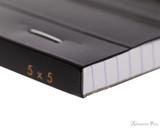 Rhodia No. 13 Staplebound Notepad - A6, Graph - Black binding detail