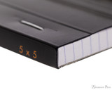 Rhodia No. 13 Staplebound Notepad - A6, Graph - Black binding detail