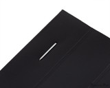 Rhodia No. 13 Staplebound Notepad - A6, Graph - Black staple closeup