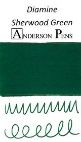 Diamine Sherwood Green Ink Color Swab