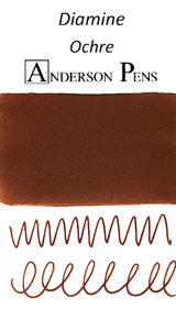Diamine Ochre Ink Color Swab