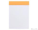 Rhodia No. 13 Staplebound Notepad - A6, Graph - Orange open
