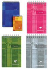 Clairefontaine Classic Wirebound Notepad - 5.75 x 8.25, Lined - Assorted