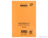 Rhodia No. 14 Staplebound Notepad - 4.375 x 6.375, Lined - Orange back cover