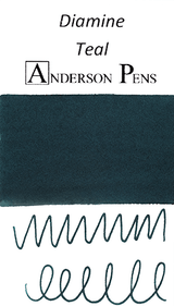 Diamine Teal Ink Color Swab