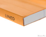 Rhodia No. 12 Staplebound Notepad - 3.375 x 4.75, Lined - Orange binding