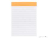 Rhodia No. 12 Staplebound Notepad - 3.375 x 4.75, Lined - Orange open