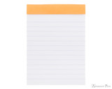 Rhodia No. 12 Staplebound Notepad - 3.375 x 4.75, Lined - Orange open