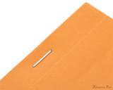 Rhodia No. 12 Staplebound Notepad - 3.375 x 4.75, Lined - Orange staple detail