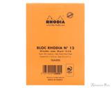 Rhodia No. 12 Staplebound Notepad - 3.375 x 4.75, Lined - Orange back cover