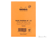 Rhodia No. 12 Staplebound Notepad - 3.375 x 4.75, Lined - Orange back cover