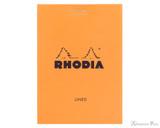 Rhodia No. 12 Staplebound Notepad - 3.375 x 4.75, Lined - Orange