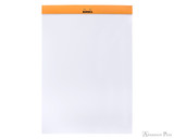 Rhodia No. 18 Staplebound Notepad - A4, Blank - Orange open