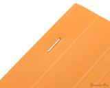 Rhodia No. 18 Staplebound Notepad - A4, Blank - Orange staple detail