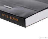 Rhodia No. 18 Staplebound Notepad - A4, Blank - Black binding detail