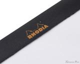 Rhodia No. 18 Staplebound Notepad - A4, Blank - Black perforations