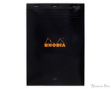 Rhodia No. 18 Staplebound Notepad - A4, Blank - Black
