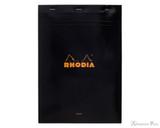 Rhodia No. 18 Staplebound Notepad - A4, Blank - Black