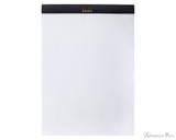 Rhodia No. 18 Staplebound Notepad - A4, Blank - Black open