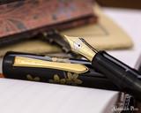Namiki Chinkin Fountain Pen - Cherry Blossom - Open on Notebook