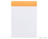 Rhodia No. 13 Staplebound Notepad - A6, Lined - Orange open