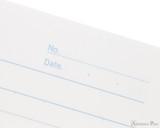 APICA CD15 Notebook - B5, Lined - Black date closeup