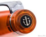Sailor Professional Gear Slim Fountain Pen - Transparent Orange with Rhodium Trim - Cap Jewel