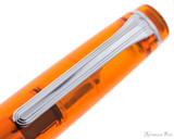 Sailor Professional Gear Slim Fountain Pen - Transparent Orange with Rhodium Trim - Clip